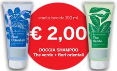 promozione doccia shampoo the verde fiori orientali